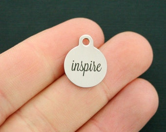 Inspire Stainless Steel Charms - Smaller Size - Exclusive Line - Quantity Options - BFS1697