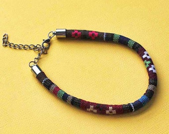 2 Woven Bracelet Adjustable Bohemian Look 7 to 9 Inches - N162