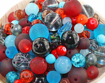 Glass Bead Mix Assorted 100 Southwest Color Combination 6mm to 12mm - BMX040