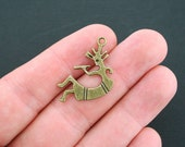 SALE 5 Kokopelli Charms Antique Bronze Tone 2 Sided - BC462