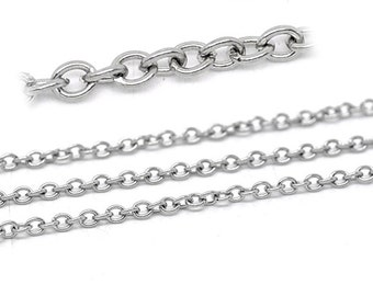 FD019 32Ft Chain Silver Plated Cable 3.5 x 2.5mm