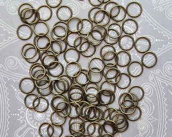 BULK 1000 Jump Rings Silver Plated Iron Open 9mm x 1.2mm J050