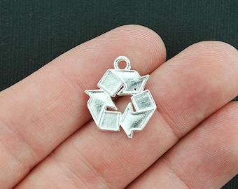 5 Recycle Symbols Antique  Silver Tone  - SC1141