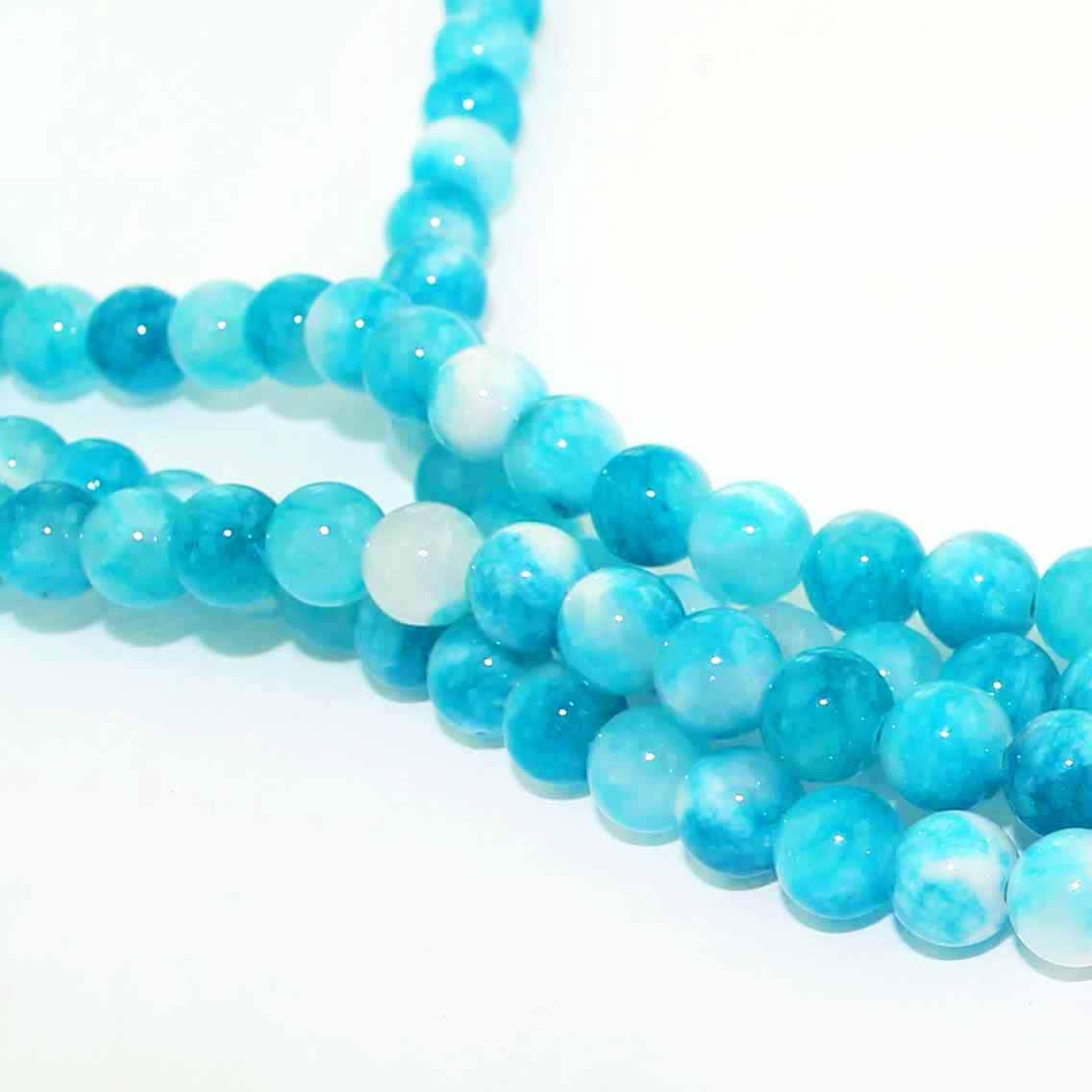 Tones of Atlantic Seashore BD120 15 Mottled Glass Beads 10mm