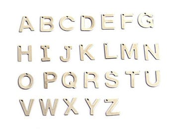 10 Stainless Steel Letter Charms Choose Your Letter - ALPHA1100-IND