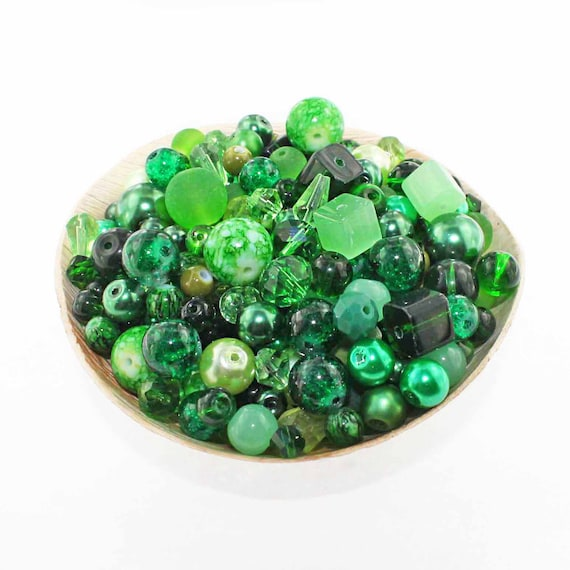 Glass Bead Mix Assorted 100 Christmas Color Combination 6mm to 12mm BMX046