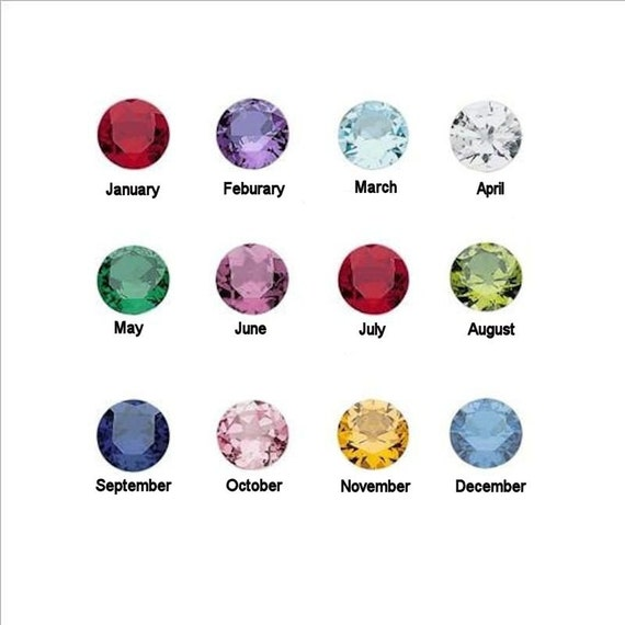 12 birthstones for memory lockets all 12 months 5mm crystals etsy