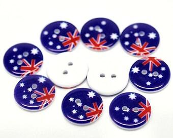 15 Australia Flag Buttons BUT183