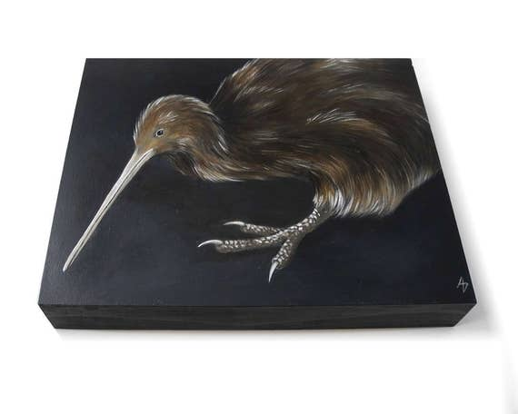 kiwi kiwi vogel neuseeland tiere kunst flugunf higer etsy. Black Bedroom Furniture Sets. Home Design Ideas