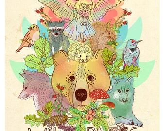 Wilderness-limited edition art print of my original illustration
