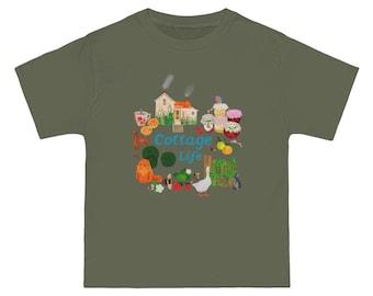 Cottage life-Cottagecore Illustration-Beefy-T®  Short-Sleeve T-Shirt