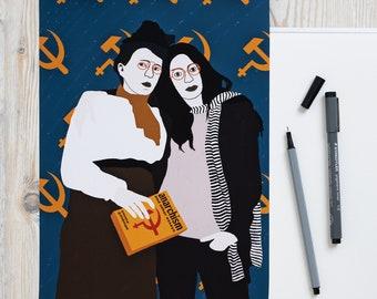 Emma Goldman and Shulamith Firestone Poster