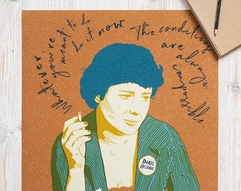 Doris Lessing Do It Now Poster