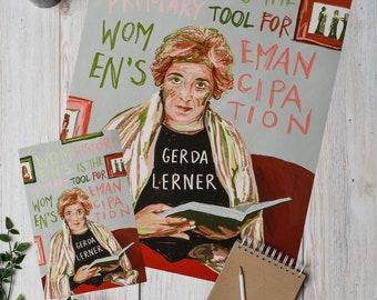 Gerda Lerner Women's History Poster