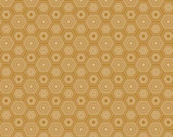 Gold Fabric Blend Fabrics Sweet as Honey in Gold Natural Wonder Fabric Josephine Kimberling One Yard