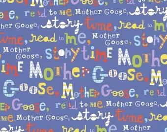 Nursery fabric, Mother Goose Tales, Storytime, Jill McDonald, Windham Fabric, One Yard