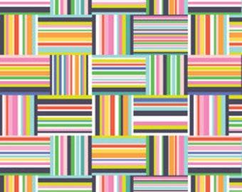 Navy Stripe Fabric Blend Fabrics Maude Asbury Sunsational Seaside Stripe in Navy Fabric One Yard