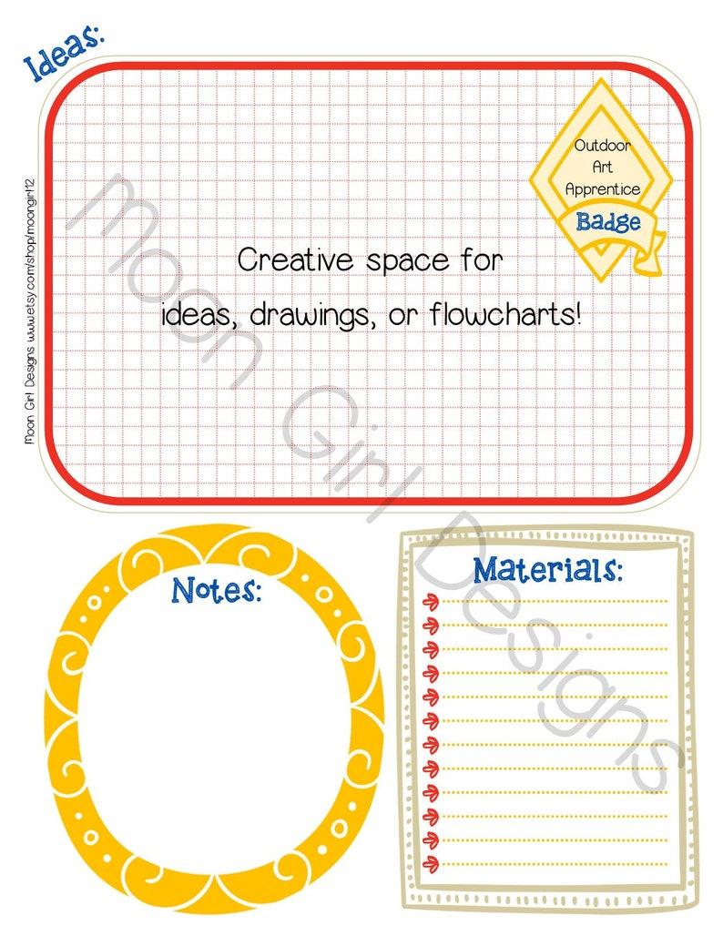 Cadette Badge Planner Girl Scout Leader Editable Printable Pdf Etsy