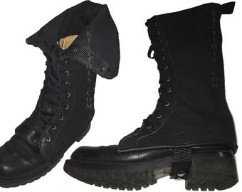 Black Canvas Boot Covers
