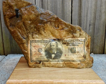 vintage office decor. Rock Statue With Million Dollar Bill And Key Holder - Office Decor Milion  Organizer Vintage Office Decor E