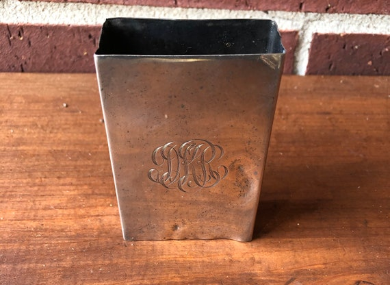 Cigarette case - Sterling Cigarette Holder Case -