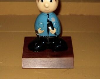 Vintage Rock Head -  The Policeman -Career Companions - Policeman Statue - Rock Police Officer - Rock Cop - Law Enforcement