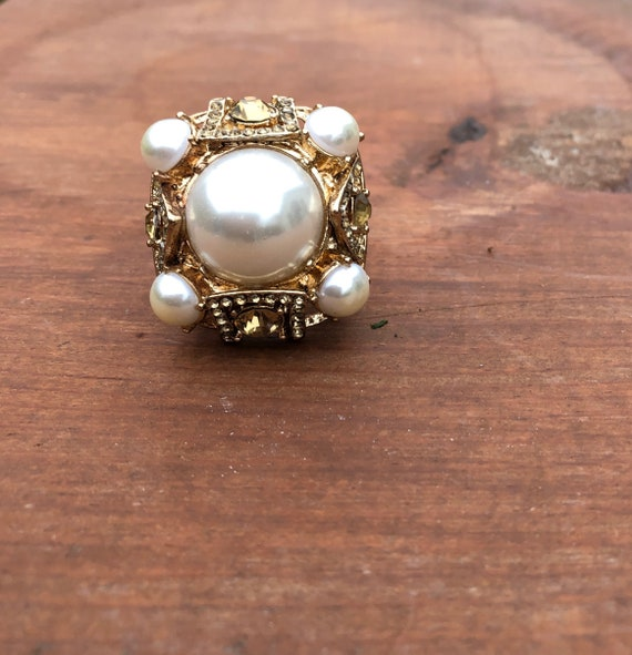 Chunky Goldtone Ring - Chunky Ring Jewelry - Goldt