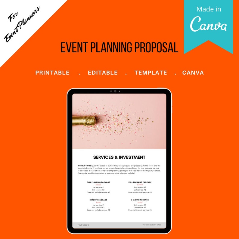 Event Planning Proposal for Event and Wedding Planners. image 0