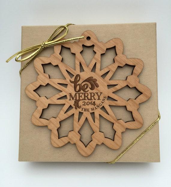 image 0 - Personalized Christmas Ornament Custom Wood Laser Engraved Etsy