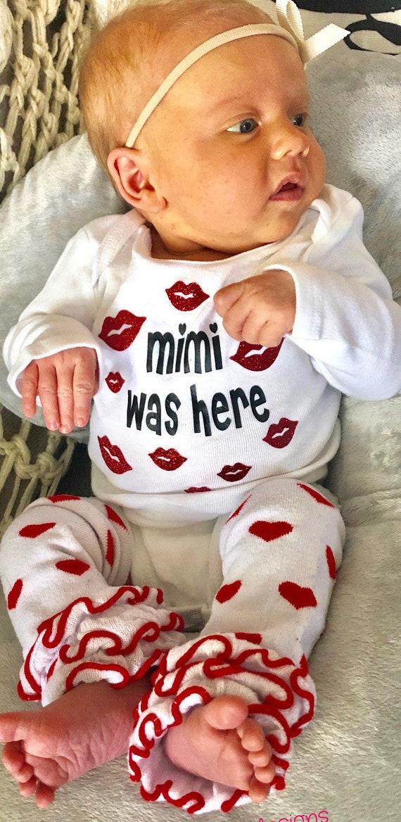 Mimi Was Here Kisses Onesie