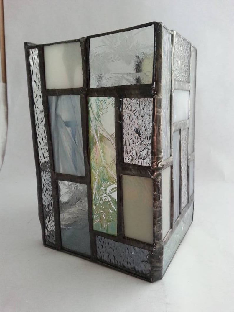 Hurricane Stained Glass Candle Holder Etsy