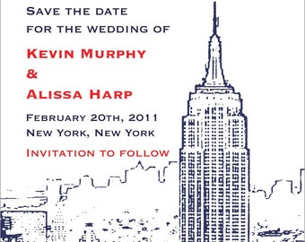 New York City Save the Date or Invitation