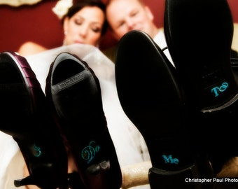 I Do and Me Too Shoe Stickers - Bride and Groom Wedding Shoe Stickers - Wedding I Do Stickers