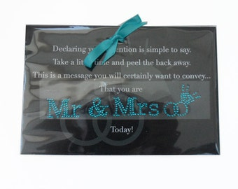 MR and MRS Shoe Sticker in Blue Crystal | Great Wedding Photo Props