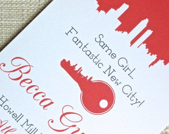 Atlanta Moving Announcement, Invitation, or Save the Date with Atlanta Silhouette