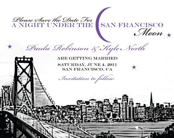 Save the Date San Francisco Moon