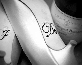Wedding I DO Shoe Stickers in Black