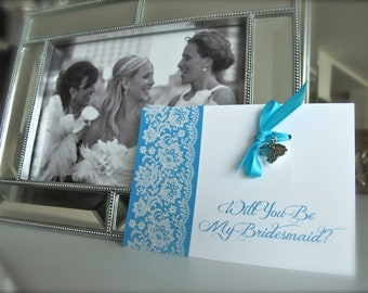 Will You Be My Bridesmaid Wedding Pendent Card Gift