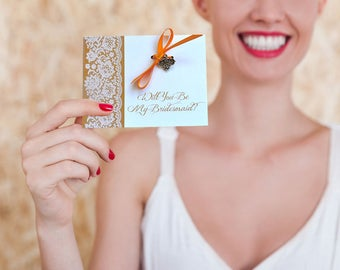 Personalized Bridesmaid Charm Card | Bridesmaid Proposal Card | Will you be my Bridesmaid Card