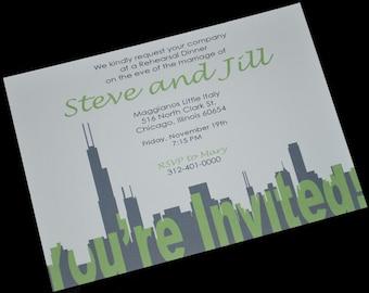 Chicago Silhouette Invitation