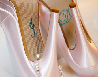 I DO Wedding Shoe Decals in Blue for your Bridal Shoes