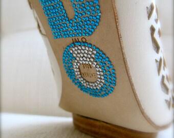 I DO Crystal Wedding Shoe Stickers with Large Diamond Ring