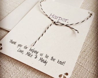 Thank You for Helping Tie the Knot Card | Tie the Knot Thank you Card