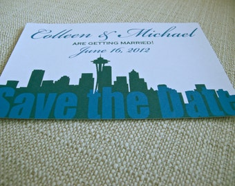 Seattle Wedding Save the Date Postcard