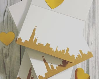 Wedding Place Cards with Your City Silhouette