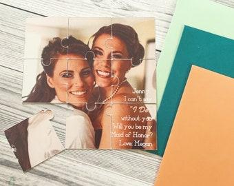 Bridesmaid Photo Puzzle - Custom Photo Puzzle - Bridesmaid Proposal Photo Puzzle - Will you be my Bridesmaid Card