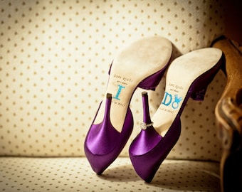 Brides Shoe Stickers - BLUE DIAMOND RING - I Do Wedding Shoe Stickers