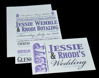 Wedding Invitation Set with Your Bulletin