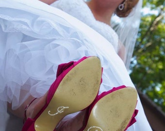 I Do Stickers for Wedding Shoes in 9 Different Crystal Colors