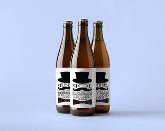 Beer Bottle Labels | Personalized Beer Labels | Groomsmen Beer Bottle Labels |  Will you be my Groomsman | Groomsman Proposal